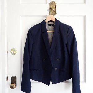 Mango Basics Navy Blue Blazer